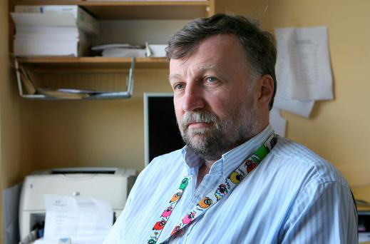 Consultant orthopaedic surgeon Peter O'Rourke in his office at Letterkenny General Hospital. Photo: Declan Doherty