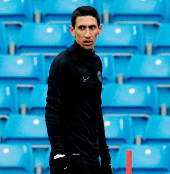 Paris Saint-Germain's Angel Di Maria warns Manchester City that they will hit them where it hurts. Photo: Jason Cairnduff/Action Images via Reuters