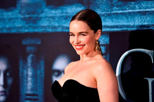 Actress Emilia Clarke attends the premiere of 'Game of Thrones' season six in Los Angeles. Photo by Alberto E. Rodriguez/Getty Images