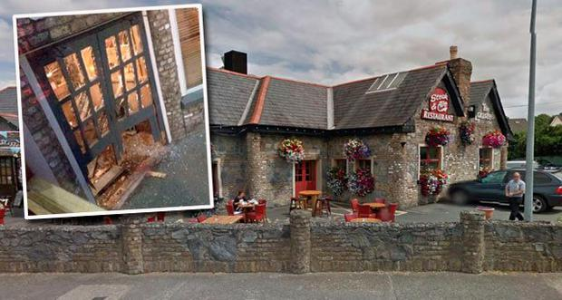 Pub-goers were lucky to escape serious injury after a man drove the vehicle at the Laurels pub, Clondalkin