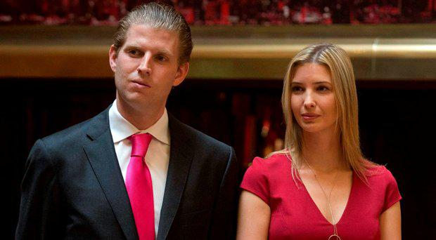 Eric Trump and Ivanka Trump
