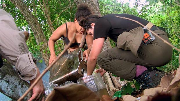 The Island with Bear Grylls - (GIRLS POURING OUT WATER)