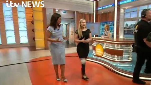 Vicky Balch spoke about her new bionic leg on ITV's Good Morning Britain (ITV/PA)