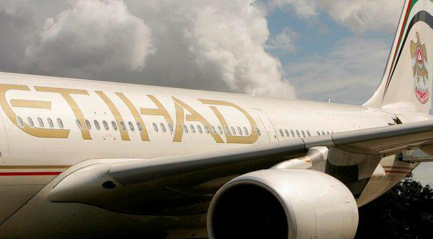 An Etihad Airways plane
