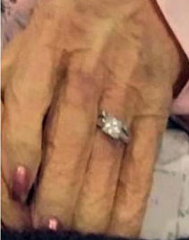 The wedding ring that was stolen from the body of Lois Hicks