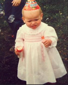 Michele McGrath shared a sweet throwback photo from her first birthday/Instagram