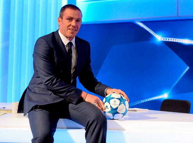 Richard Dunne gave his views to BT Sport after watching Sergio Aguero become Manchester City's record goal scorer. Picture: Brendan Moran / SPORTSFILE