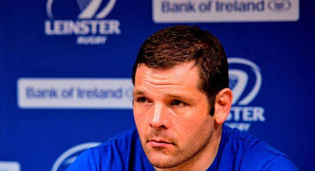 Leinster's Mike Ross. Picture credit: Piaras Ó Mídheach / SPORTSFILE