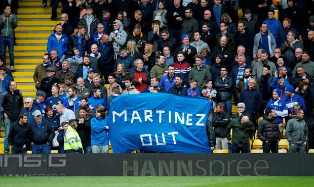 There is a growing number of fans who are becoming increasingly disgruntled with the Toffees boss after another season of underachievement. Action Images via Reuters / Peter Cziborra