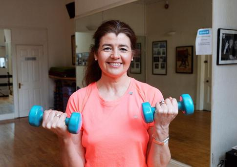 Mum-of-two Anne Costello works out three times a week during her lunch break
