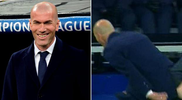 Zinedine Zidane enjoyed his best night as a coach despite ripping his trousers in front of millions