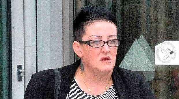 Arsonist Alison Greer at Belfast Crown Court where she was jailed over an arson attack