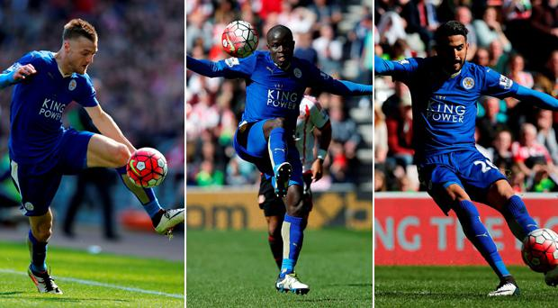 Jamie Vardy, N'golo Kate and Riyad Mahrez have been mesmeric this year