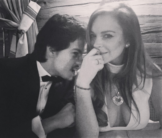 Lindsay Lohan and Egor Tarabasov. Photo: Instagram