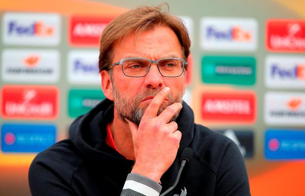 Klopp: 'It's always about being brave, especially against such a high quality team. It's really important to have your own moments'. Photo: Getty