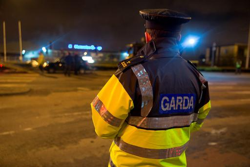 Gardai discover a quantity of explosives found in a car stopped at the junction of the Long Mile road and the Naas Road