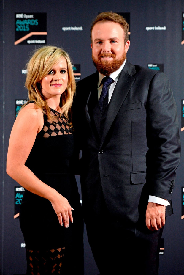 Shane Lowry with Wendy Honner. Photo: Piaras Ó Mídheach
