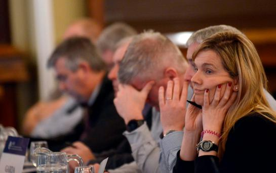 Delegates at the AGSI conference in Westport, Co Mayo. Photo: Paul Mealey
