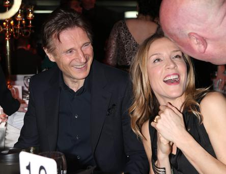Liam Neeson and on/off girlfriend Freya St Johnston. Photo: Kyran O'Brien