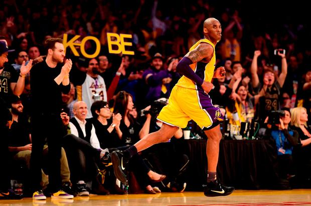 1e66162c4230 Kobe Bryant  24 of the Los Angeles Lakers reacts in the third quarter  against the