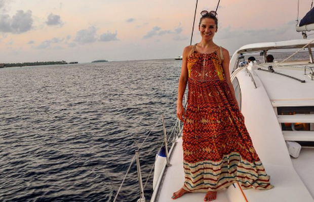 Amanda Byram enjoys her honeymoon in the Maldives. Photo: Instagram