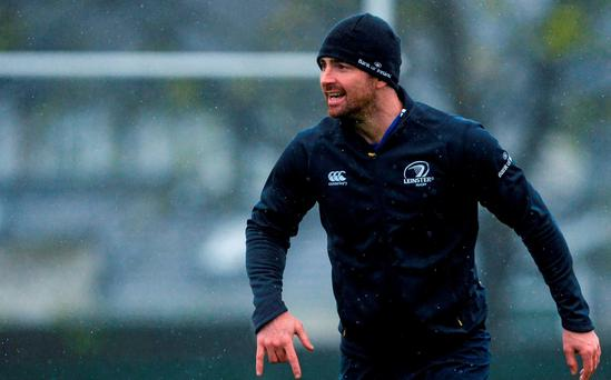 11 April 2016; Leinster's Rob Kearney during squad training. Leinster Rugby Squad Training. Thornfields, UCD, Belfield, Dublin. Picture credit: Piaras Ó Mídheach / SPORTSFILE