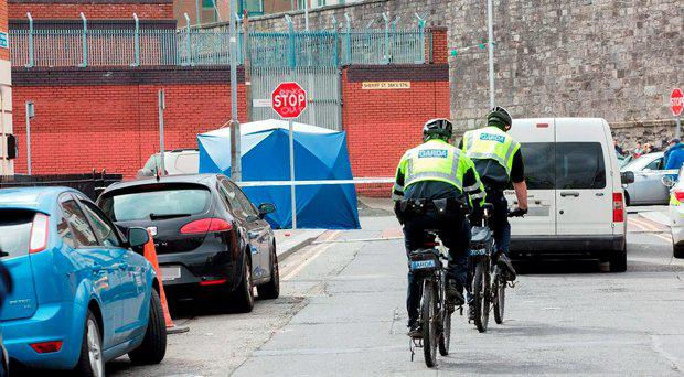 Garda at the scene today