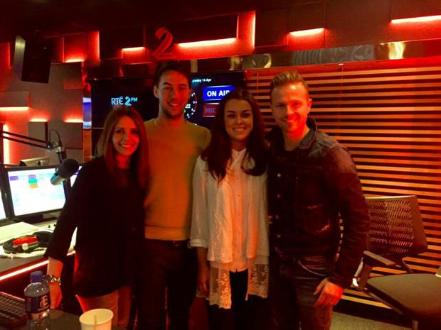 Eoin Thompson and Niamh Durcan joined Nicky and Jenny on the Nicky Byrne Show with Jenny Greene on 2fm