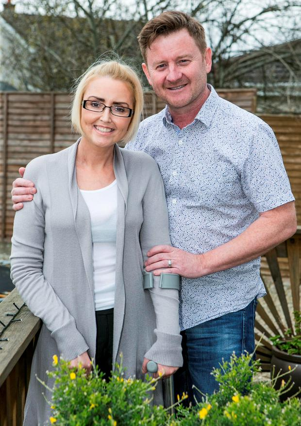Marina and Alan Killoran at their home in Newbridge Credit: Kyran O'Brien