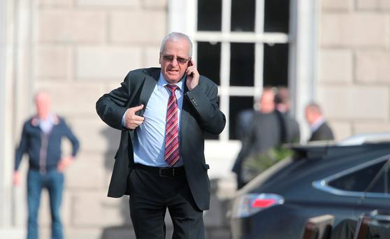 Independent Mattie McGrath at Leinster House yesterday. Photo: Collins Photo Agency