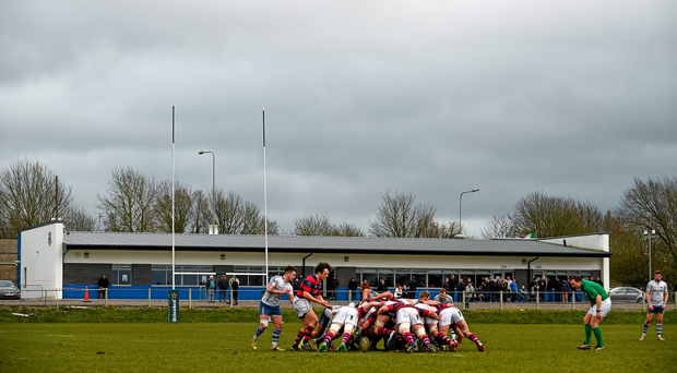Galwegians travel to Temple Hill (pictured) tomorrow, in the Ulster Bank League Division 1A, where they need to beat Cork Con to have any chance of avoiding the promotion/relegation play-off. Photo: Sportsfile
