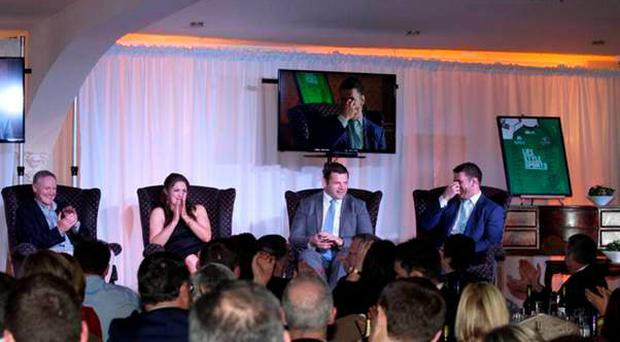 'The fundraiser attracted a sell-out attendance of 360 who listened to and mingled with the elite of Irish rugby and Carlow entrepreneurs'