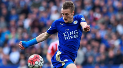 Jamie Vardy's record-breaking scoring exploits have been central to Leicester City's charge for the title Photo: AFP/Getty