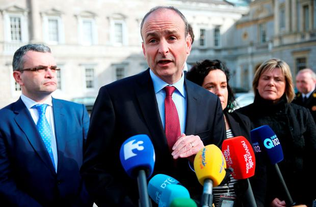 Martin is moving closer to facilitating an FG-led government. Photo: PA