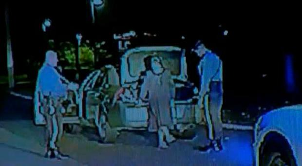 Dashcam footage captured Sister Miller being arrested at the scene