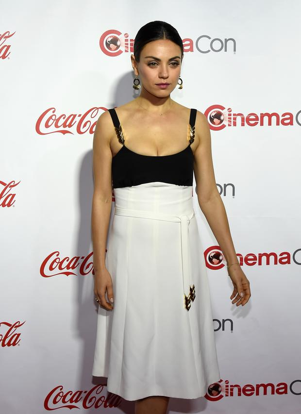 Actress Mila Kunis, one of the recipients of the Female Stars of the Year Award, attend the CinemaCon Big Screen Achievement Awards at Caesars Palace during CinemaCon (Photo by Ethan Miller/Getty Images)