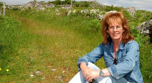 Poet Rita Ann Higgins near her home in An Spideal, Co, Galway. Photo: Andrew Downes