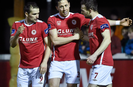 St Patrick's Athletic . Picture credit: David Maher / SPORTSFILE