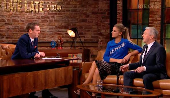 Louis Walsh and Vogue Williams on The Late Late Show