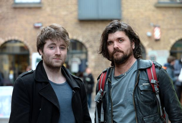 15 Apr 2016: James Herdman, left, from Belfast, and Thomas Kemp, from London at the Open Casting for movieextras.ie. Filmbase, Temple Bar, Dublin. Picture: Caroline Quinn