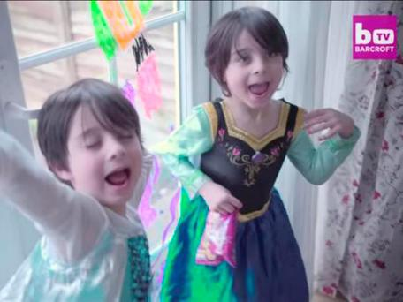 The twins dance around their family home in princess outfits Youtube