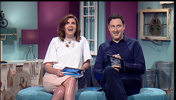 Muireann O'Connell and Ray Foley on the Seven O'Clock Show/TV3