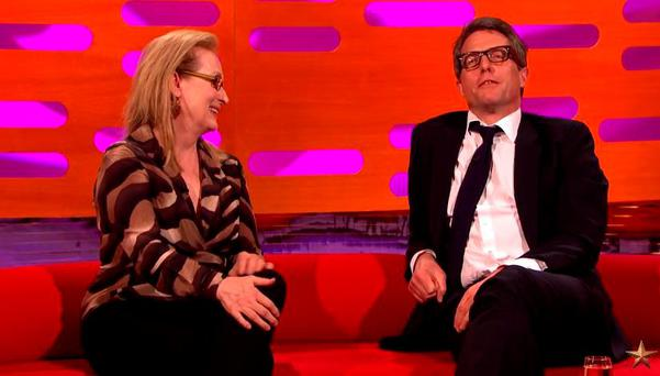 Hugh Grant and Meryl Streep on The Graham Norton Show