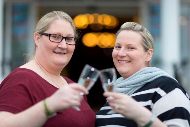 Christina Procter and Amy Gavinwho met at The Outing festival in Lisdoonvara. Photo: Eamon Ward