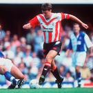 Matt Le Tissier, right, in action for Southampton
