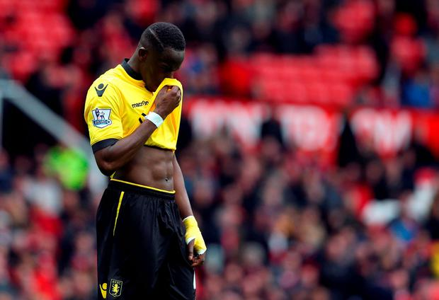 Aston Villa's Aly Cissokho after the Barclays Premier League match at Old Trafford, Manchester