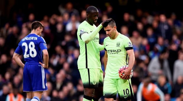 Manchester City's Sergio Aguero and Yaya Toure Reuters / Dylan Martinez