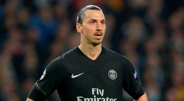 Paris Saint-Germain's Swedish forward Zlatan Ibrahimovic. Photo: Oli Scarff/AFP/Getty Images