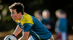 Niall Friel, St Patrick's College, in Sigerson Cup action against GMIT