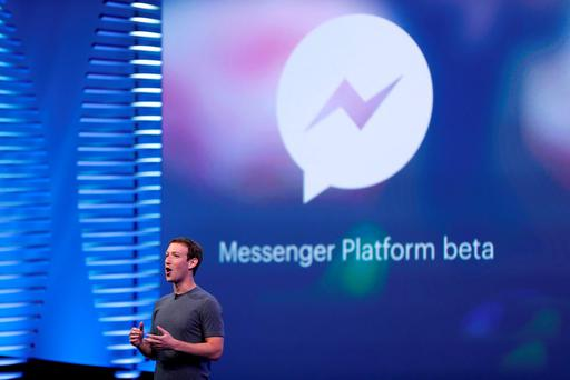 Facebook CEO Mark Zuckerberg speaks on stage during the Facebook F8 conference in San Francisco. REUTERS/Stephen Lam